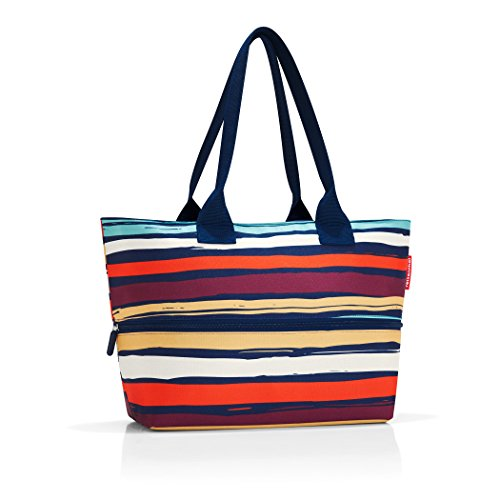reisenthel shopper e1 artist stripes Maße: 50 x 26,5 x 16,5 cm / Maße: 50 x 35 x 16,5 cm expanded