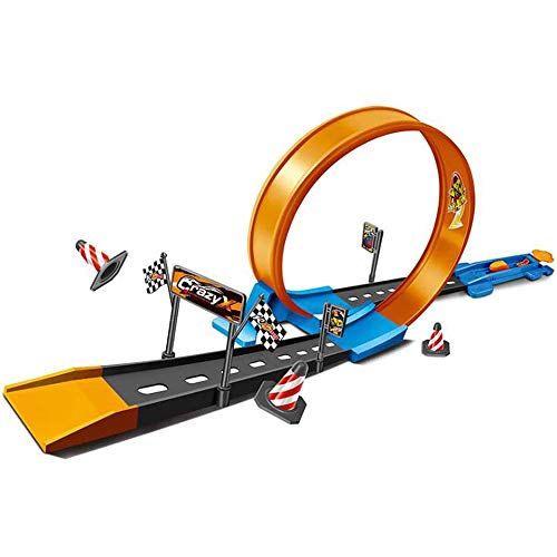 N / C Hot Wheels Loop Play Set, Race Tracks Kit, Road Playset, Track Builder Launcher Toy Cars Set para 2, 3, 4, 5, 6, 7 años de Edad, niños, niños y niñas