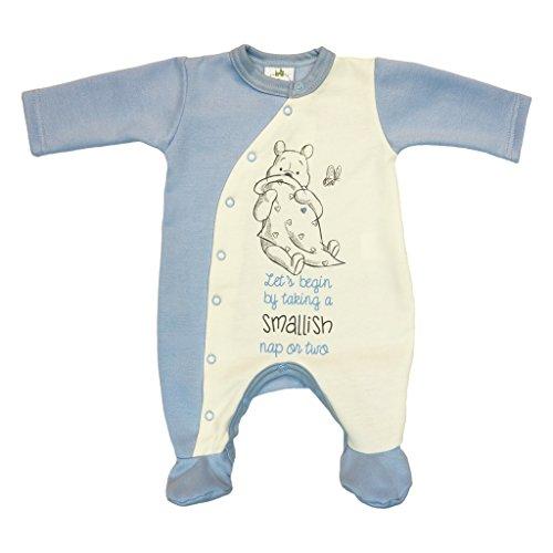 Winnie The Pooh Baby Strampler Outfit in Größe 50 56 62 68 74 80 Baumwolle warm dick leicht gefüttert, auch als Schlafanzug Schlafoverall geeignet Farbe Modell 5, Größe 68