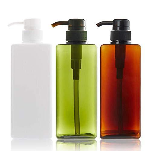 Shampoo Pumpflasche Lotion Pumpe Flaschen Kunststoff Pumpflasche Nachfüllbare Pumpflaschen Duschgel Pumpflasche Lotionspender Für Lotion Shampoo Flüssigseife Seifenspender Flaschen 280 Ml 3 Stücke