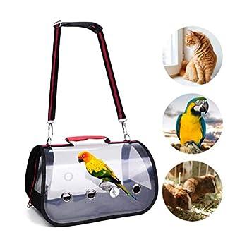 Merkts Cage de transport pour oiseau transparente et respirante pour voyage, randonnée, bleu, S
