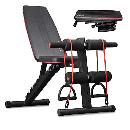 arteesol Banc De Musculation, Banc Musculation Banc De Musculation Pliable Banc Musculation Multifonction Pour l'entraînement Complet du Corps (Noir)