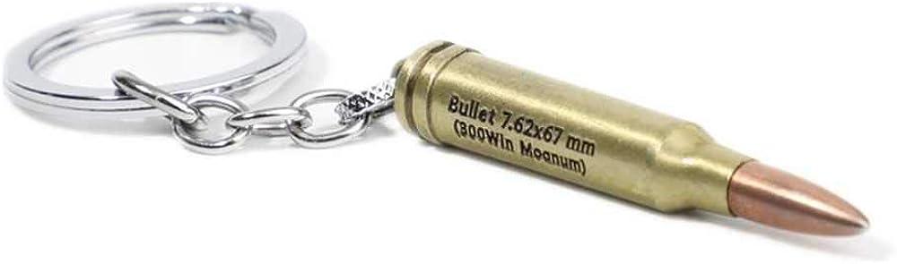 ArtkticaSupply PUBG videogame inspired - PUBG Medium Caliber Bullet 7.62x67 mm 300win Mognum Keychain