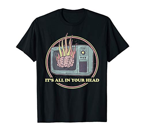 Retro All In Your Head Sheeple Gift - 80s Aesthetic Occult T-Shirt