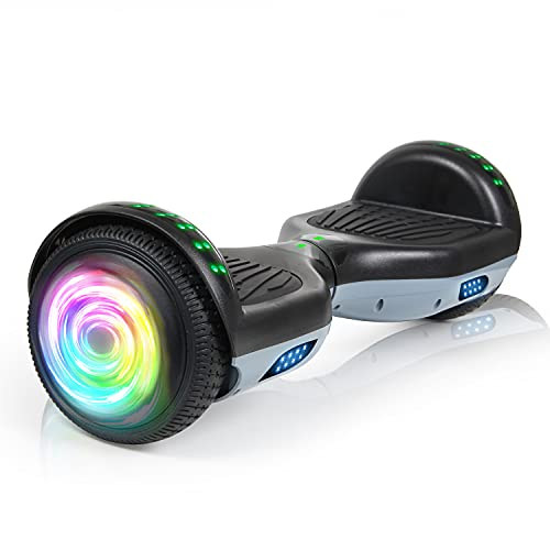 LIEAGLE Hoverboard, 6.5' Self Balancing Scooter Hover Board with Bluetooth Wheels LED Lights for Kids Adults