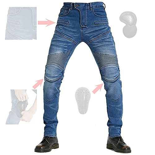CYLZRCl Pantalones Moto Verano Hombre Pantalones Moto Pantalones Motocross Pantalones Moto Homologados Hombre