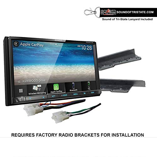 Kenwood DMX9707S Digital Multimedia Receiver + Install kit 03-09 Toyota 4Runner, 00-05 Celica and MR2 Spyder + Sound of Tri-State Lanyard Bundle
