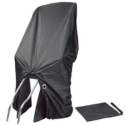 TROCKOLINO sicuro Basic Regenschutz für Fahrradkindersitze mit Öse, schwarz