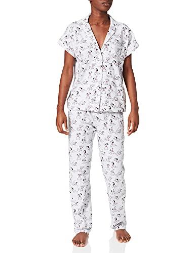 Women' Secret Pijama Camisero 101 Dámatas algodón, Estampado Gris, M para Mujer
