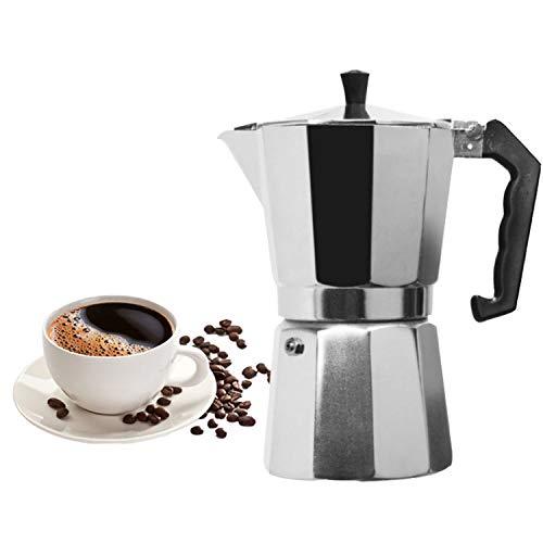 Coffee Maker Aluminum Mocha Espresso Percolator Pot Coffee Maker Moka Pot 1cup/3cup/6cup/9cup/12cup Stovetop Coffee Maker,600ML FOR 12CUPS