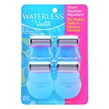 Gillette Venus | Waterless Razor-Shave Anytime Without Water - with Aloe, includes Applicator and Clean-up Pad - 4 razors
