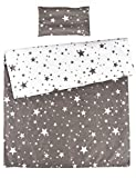 MEJU 100% Cotton Duvet Cover + Pillowcase Bedding Set with Zipper Closure for Baby Toddler Boys Girls Standard Crib Bed Decoration Gift (11)