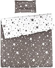 MEJU Star Twinkle 100% Cotton Duvet Cover + Pillowcase Bedding Set with Zipper Closure for Baby Toddler Boys Girls Crib Bed Decoration Gift (11)