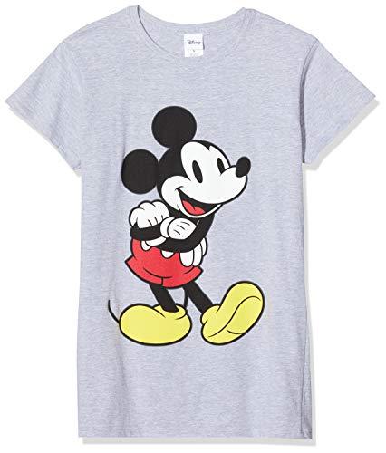 Disney Damen Micky Mouse Classic Mickey T-Shirt , Grau (Grey 003) , L