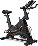 LABODI Exercise Bike, Indoor Cycling Bike Stationary, Spin Bike for Home Cardio Gym, Silent Belt Drive Workout Bike with 35 LBS Flywheel, Thickened Frame Upgraded Version(Black)