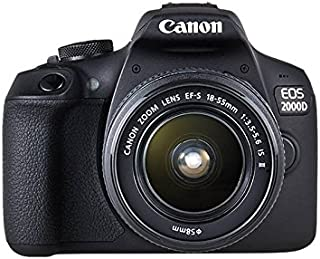 Canon EOS 2000d 18–55IS See cámara Negro