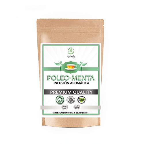 POLEO MENTA en hojas secas para infusiones digestivas - Té verde relajante. Infusiones a granel 100 gr. Excelente sabor y aroma