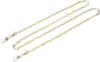 Chaîne de lunettes en métal pour femme - Forme de croix - Chaîne simple - Doré