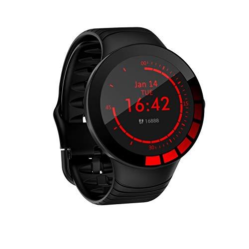 YCheng Smartwatch La Nueva Pulsera Inteligente E3 Círculo Completo Pantalla táctil Completa Impermeable Smart Sports Watch Sports Tracker Rate Cardy Presión Arterial Monitoreo (Color : Black)