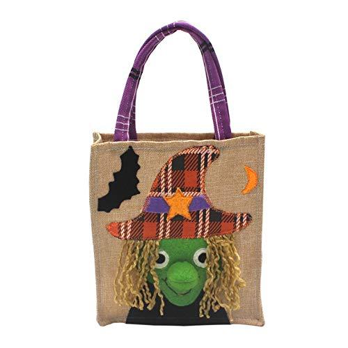 Cloverclover Bolsa de Asas de Caramelo de Tela no Tejida para el Festival de Fantasmas Adorno de Halloween Gato Negro