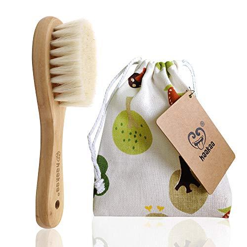 Haakaa Wooden Baby Hair Brush for Newborns and Toddlers Baby