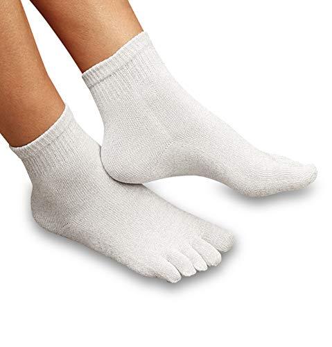 Silvernite Supermicro Antibakterielle silber Zehensocken - Socken für Damen und Herren (XL (46-48))