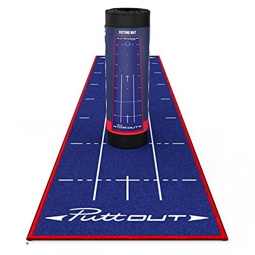 PuttOut Britain Limited Edition Tapis de Putting Mixte, Bleu GB, 240 x 50 cm
