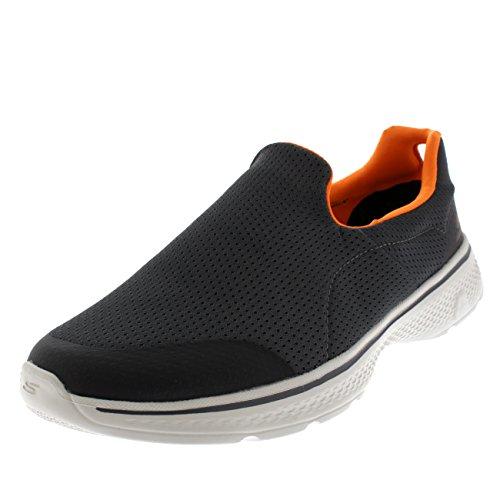 Skechers Performance Men's Go Walk 4 Incredible Walking Shoe, Charcoal/Orange, 9 M US