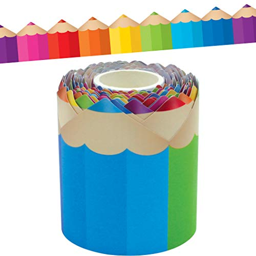Colored Pencils Die-Cut Rolled Border Trim