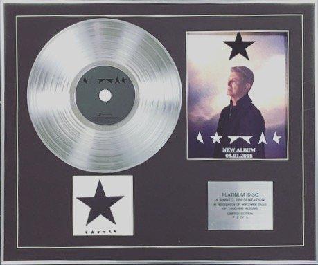 David Bowie, Limitierte Auflage, Platin-Disc + Foto, Blackstar