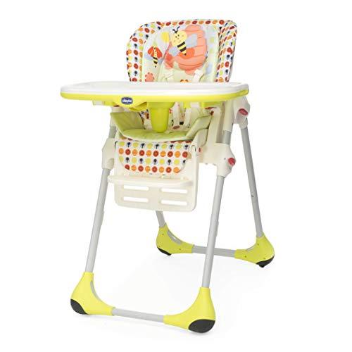 Chicco Polly - Trona 2 en 1 para niños de 6 meses a 3 años, compacta, 10 kg, color amarillo