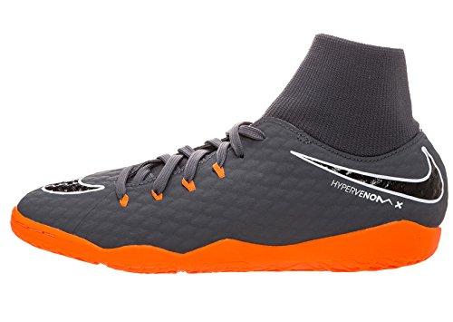 Nike Nike Herren Hypervenom PhantomX III Academy DF Fußballschuhe, Grau (Dunkelgrau/Orange Dunkelgrau/Orange), 42 EU