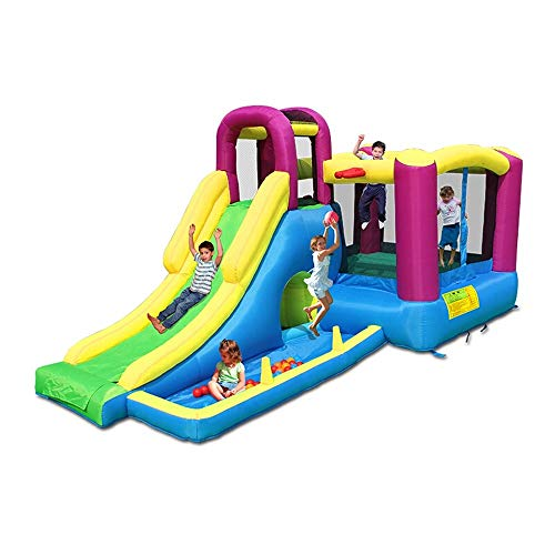 Kinder-Hüpfburg Kinder aufblasbares Castle House Kids Party Bouncy Haus mit Commercial Grade-Luft-Gebläse inklusive for Kinder Hüpfburg für Kinder ( Color : Inflatable Castle , Size : 485x230x223cm )