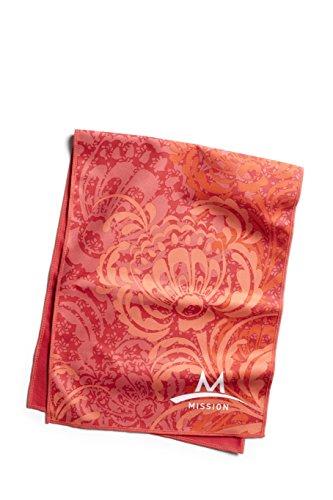 Mission Enduracool Microfiber Cooling Towel, Peony Coral, Large