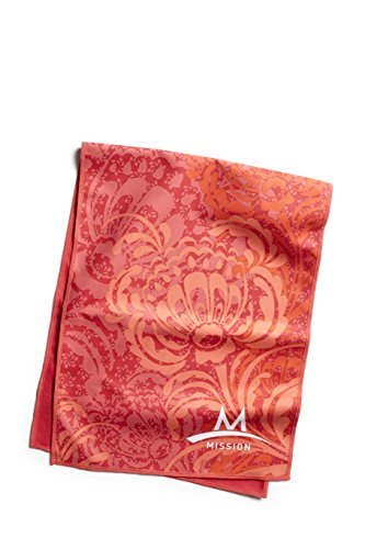 Mission Enduracool Microfiber Cooling Towel, Peony Coral, Large