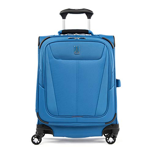 Travelpro Maxlite 5-Softside Expandable Spinner Wheel Luggage, Azure Blue, Carry-On 19-Inch