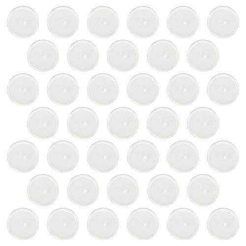 Cabilock Gancho adesivo de teto de 2 cm, mini ganchos transparentes e transparentes, gancho de pendurar para pequenos discos, gancho de pendurar livre para luminária, mastro, pôster, enfeite para pendurar, 50 peças