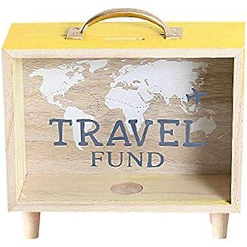 Home Collection Maison Bureau Boutique D/écoration Int/érieur Accessoires Tirelire D/écoratif Forme Cadre Motif Monde Globe Travel Fund