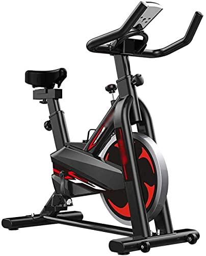 Bicicleta de ejercicio Bicicleta de fitness interior Silencioso ajustable bicicleta giratoria Home gym spinning bike pérdida de peso bicicleta ejercicio con reloj electrónico puede soportar 120kg