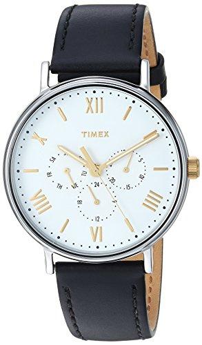 Timex heren datum klassiek kwarts horloge met leren armband TW2R80500