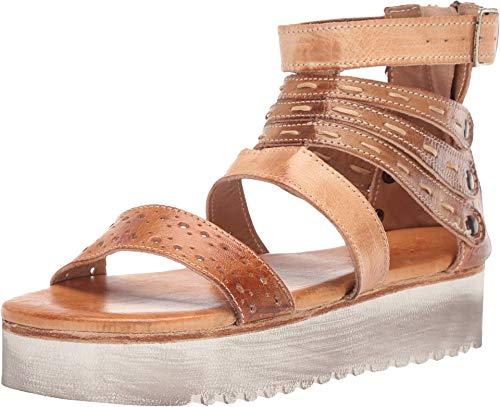 Bed Stu Women's Artemia Leather Sandal (8 M US, Bone Mustard Tan Rustic)