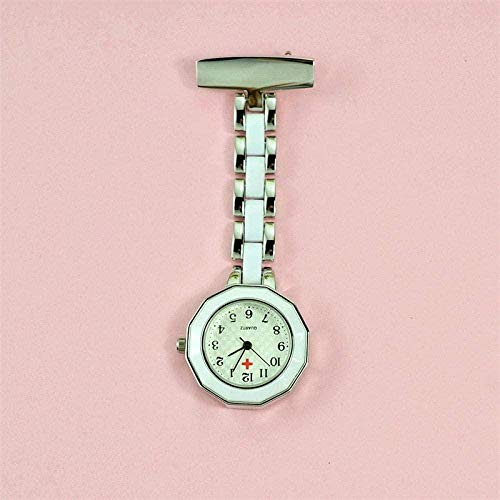 LLGG Reloj De Bolsillo Enfermera Prendedor Broche,Reloj de Pared del Reloj de...