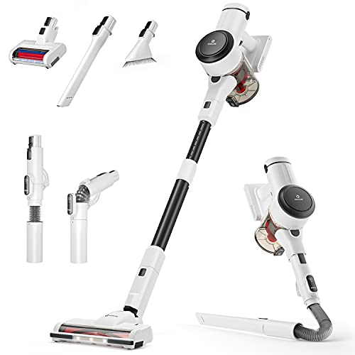 NEQUARE Cordless Vacuum, 10 in 1 Vacuum Cleaner with 280W Powerful Suction, 40mins Self-Standing Stick Vacuum for Car Pet Hair Carpet Hard Floor S25Pro