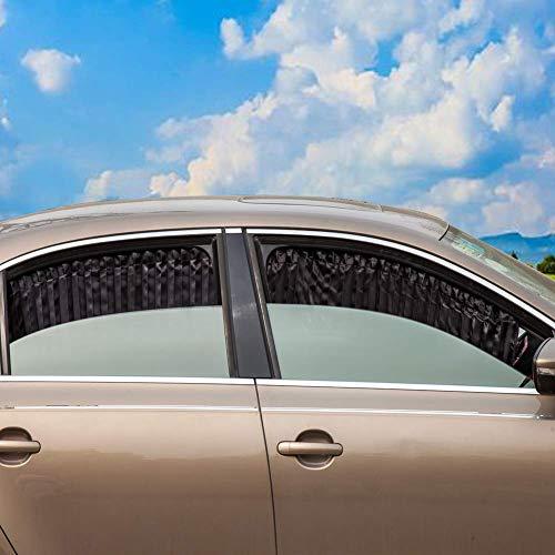 ZATOOTO Parasol Ventana Coche - Cortinas Coche Lateral Magnetica, Cortinillas Boquear los Rayos UV y el Calor, Proporcionar Privacidad, Negro