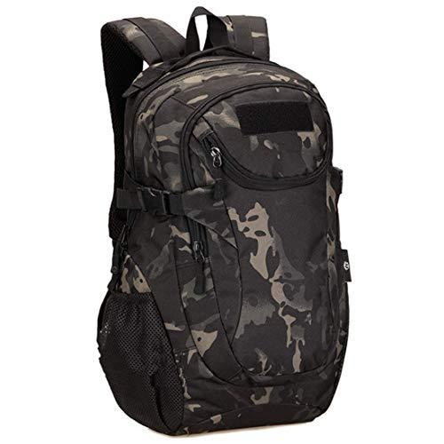 Selighting Taktischer Rucksack 25L Wasserdicht Trekkingrucksack Militärischer Molle Rucksack für Camping Trekking Reisen (Camouflage schwarz)