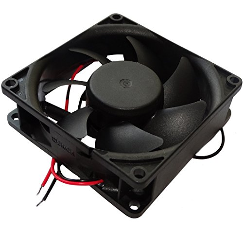 Aerzetix: Gehäuse Lüfter Gehäuselüfter Axial-Lüfter 24V 80x80x25mm 56,1m3/h 28dBA 2600rpm 1.2W 0.05A 2 kabel 28AWG C14542