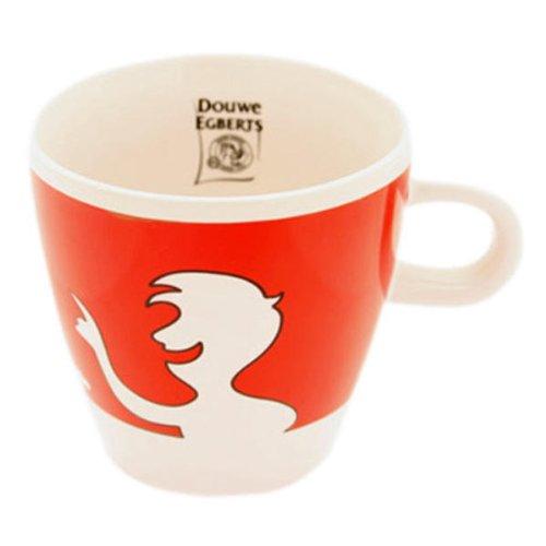 Douwe Egberts Design People, Kaffee Becher, Tee Tasse, Porzellan, Rot, 260 ml