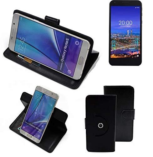 K-S-Trade® Case Schutz Hülle Für -Vestel 5530- Handyhülle Flipcase Smartphone Cover Handy Schutz Tasche Bookstyle Walletcase Schwarz (1x)