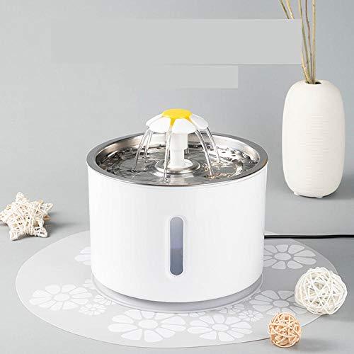 Topashe Fuente automática de Agua para Mascotas,Dispensador de Agua para Mascotas, dispensador de Agua para Perros y Gatos-Blanco B,Automático de la Fuente de Agua del Gato Silencio