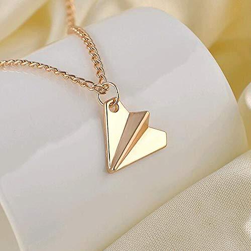 Anhänger Halskette Schmuck Herren Schmuck Halskette Kette Mode Stil Papier Flugzeug Anhänger Halskette-Gold